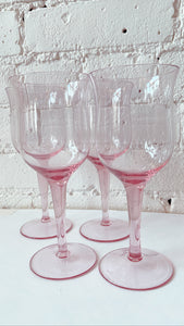 Pink Wine Glasses (Set of 4)