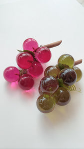 Vintage Rare Pink Lucite Grapes