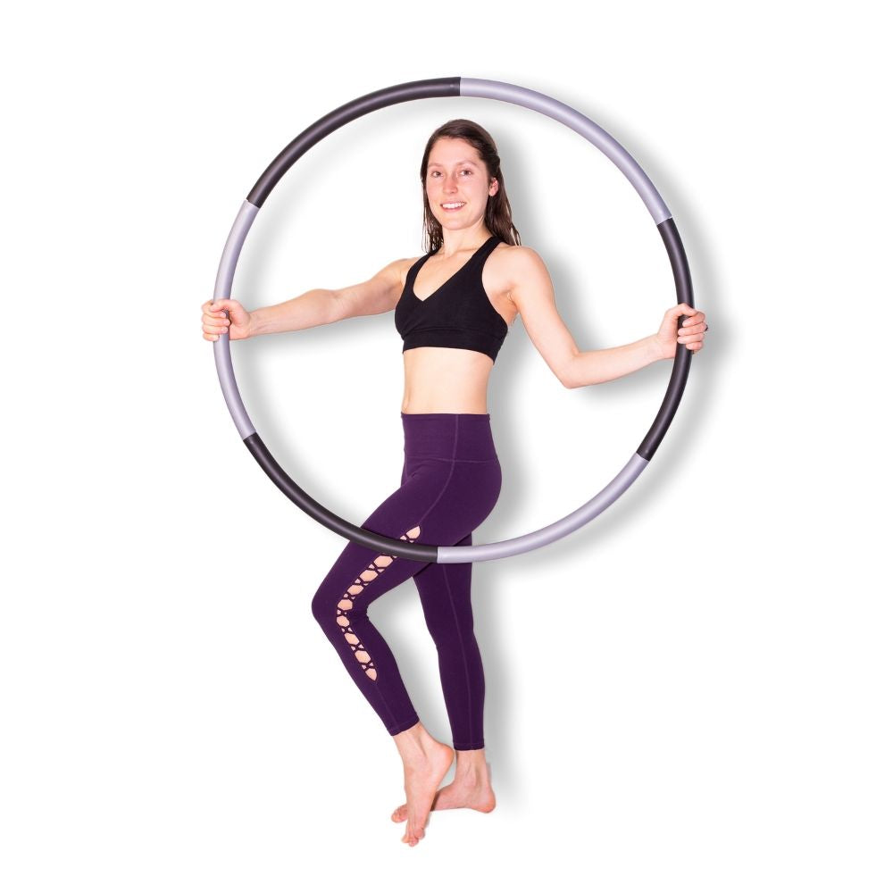 Weighted Hula Hoop - Black & Grey