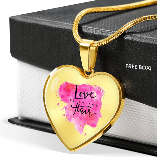 Love is in the Hair Luxury Heart Necklace