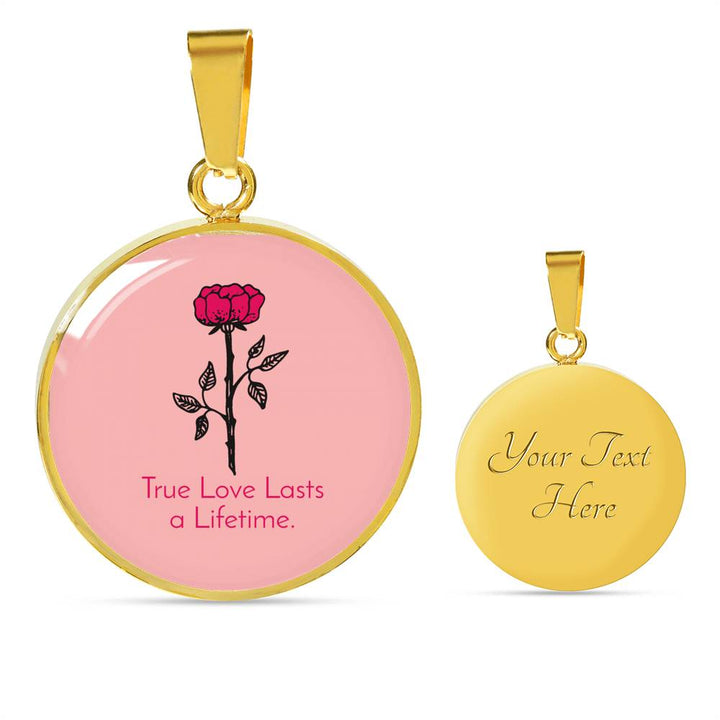 True Love Lasts a Lifetime Luxury Necklace