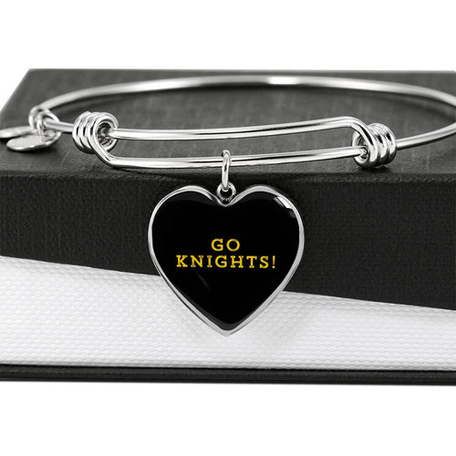 Knights Luxury Heart Bangle Bracelet