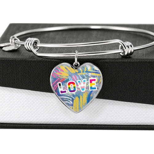Love Impressionisc Texture Luxury Bangle Bracelet