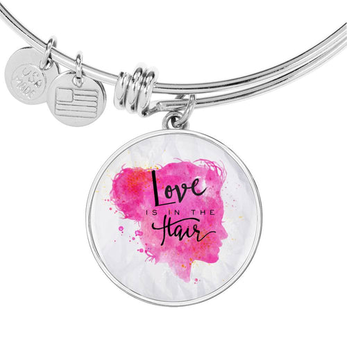 Love is in the Hair Bangle Bracelet