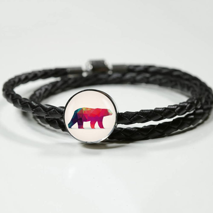 Polar Bear Modern Art Leather Bracelet