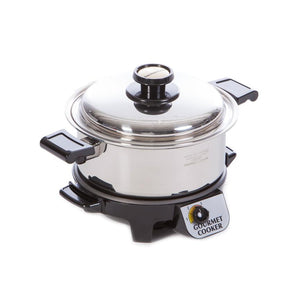 4 Quart Gourmet Cooker with Cover and Base