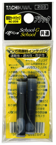 Tachikawa NC-20B Cartridge Pen Refill Black- Box of 10