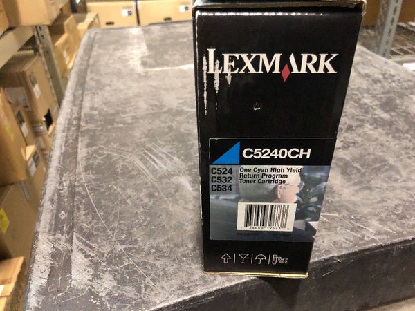 Genuine New Lexmark C5240CH Cyan High-Yield Toner Cartridge 5000 Page-Yield