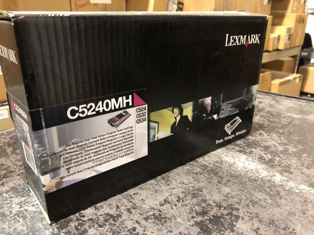 Genuine Lexmark C5240MH Magenta Toner Cartridge C5240H New