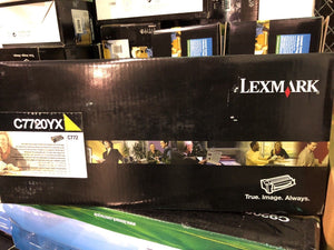 Sealed Lexmark C7720YX Yellow Toner Cartridge C7722YX Genuine New Sealed Box