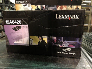 Genuine  New Lexmark 12A8420 Black Toner Cartridge T430 New