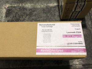 Lexmark C524 C5240KH Black Toner Cart GENUINE NEW SEALED