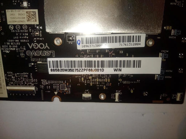 Lenovo Yoga 910-13IKB Laptop Motherboard 8GB w/ i7-7500 2.7Ghz CPU 5B20M35075