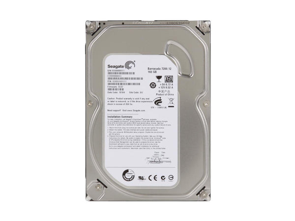 "Seagate BarraCuda 160GB 3.5"" HDD 7200RPM SATA 3.0Gb/s 8Mb Cache ST3160318AS"