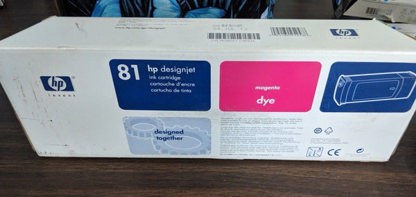 Genuine HP 81 Magenta Dye for DesignJet 5000, 5500 - C4932A  Ink Cartridge