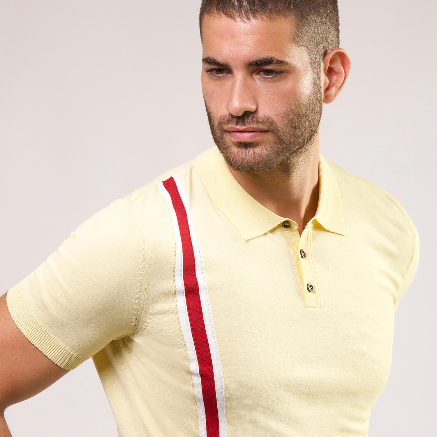 Super Soft Stretch Polo in Yellow