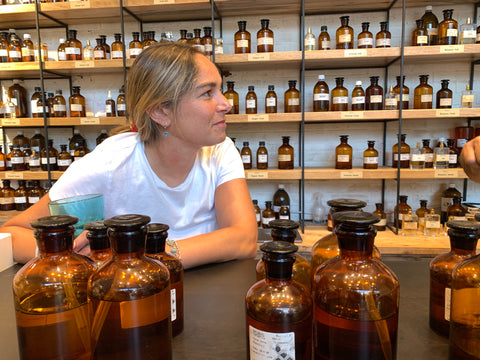 Camel Milk Natural Body Care Products Co-Founder Viktoria Green at an apothecary shop