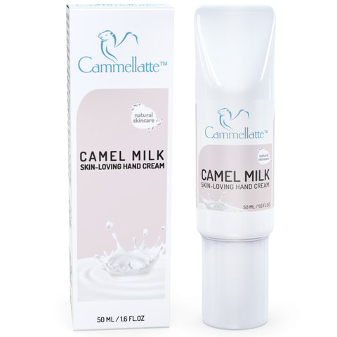 Cammellatte Camel Milk Hand Cream Box next to Tube