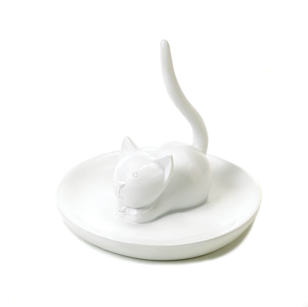 Charming Cat Ring & Jewelry Holder