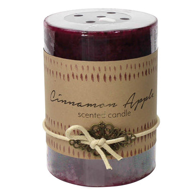 Cinnamon Apple Pillar Candle 3X4