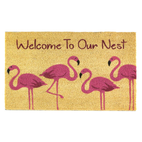 Flamingo Family Welcome Mat