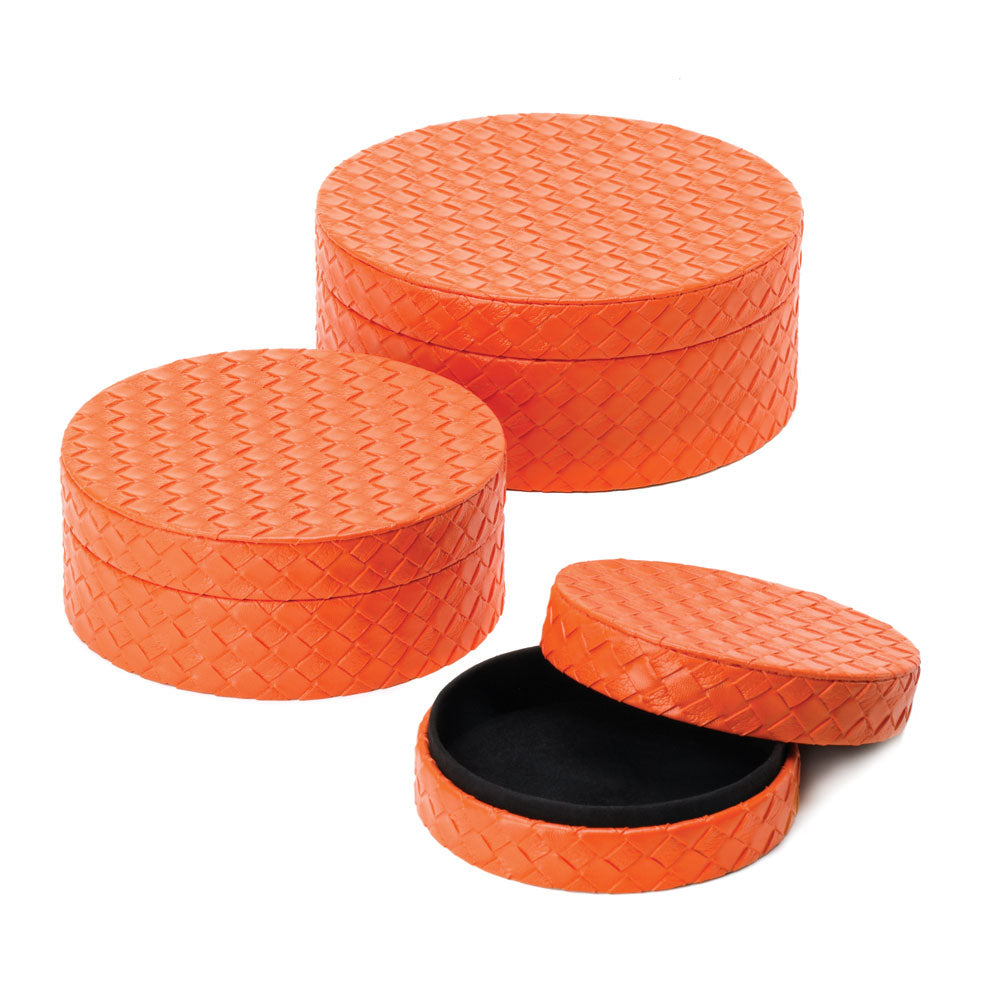 Orange Keepsake Boxes Trio