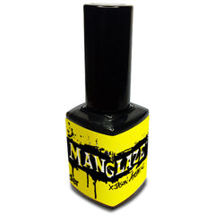 Matte is Murder black matte nail polish bottle in Atomic Lefty art