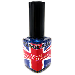 Royal Matterimoaning blue matte nail polish bottle