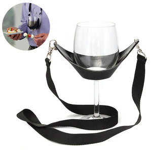 Wine glass holder necklace