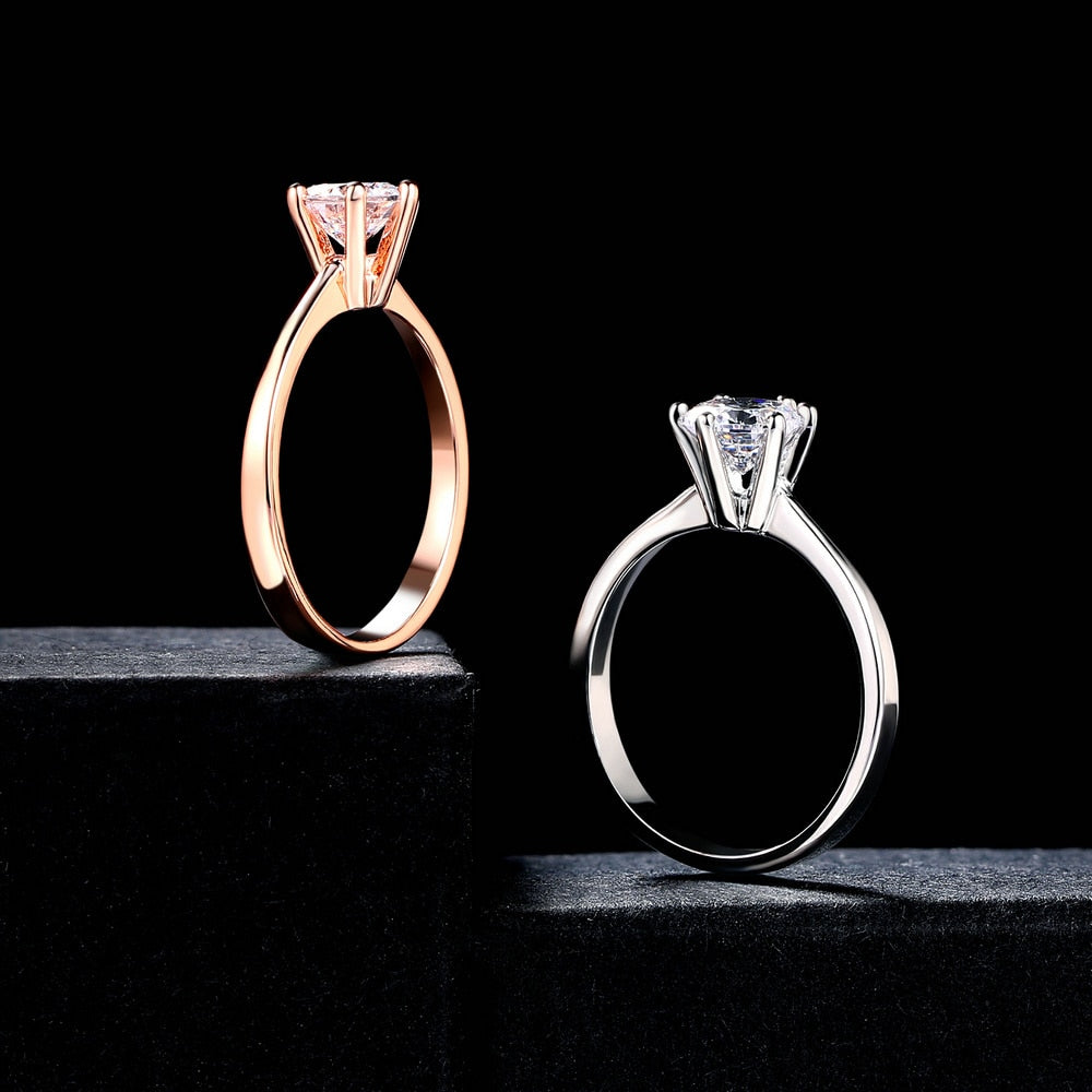 6 Claw 1 Carat Cubic Zirconia Wedding/Engagement rings