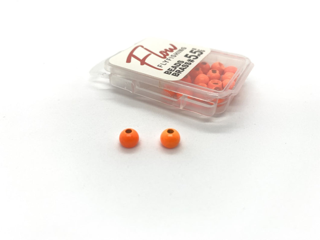 Flow Brass beads  Fl Orange