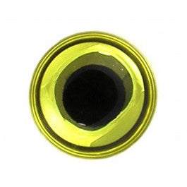 3d Epoxy eyes Chartreuse  6mm