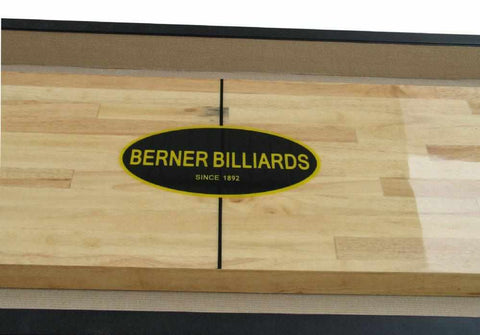 Image of Berner Billiards The Standard 9 foot Shuffleboard Table in Espresso