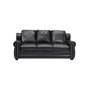 BALTIMORE RAVENS COACH LEATHER SOFA