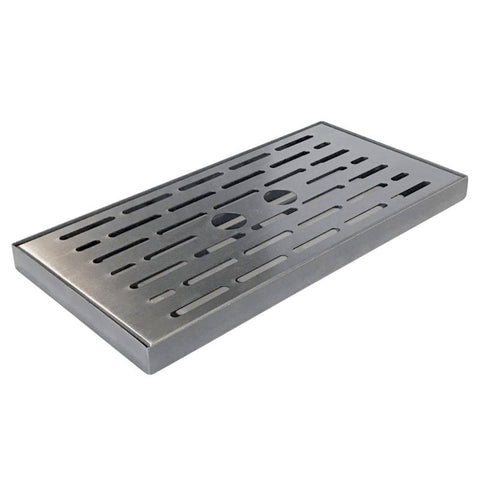 EdgeStar PBR7001BL47 - 12 inch Stainless Steel Surface Mount Drip Tray
