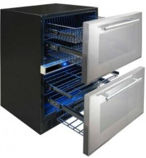 Image of Mirrored Two Drawer Wine & Beverage Center