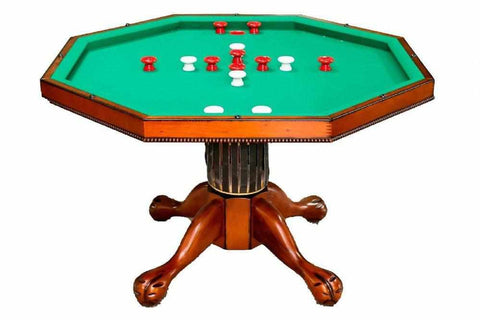 "Image of Berner Billiards 3 in 1 - 54"" Octagon Poker/Bumper/Dining in Mahogany"