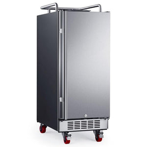 15 Inch Wide Kegerator Conversion Refrigerator with Forced Air Refrigeration