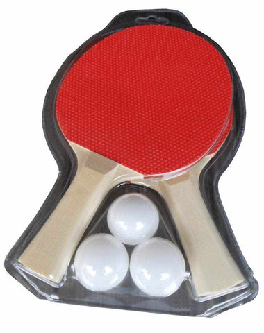 Table Tennis 2 Player Paddle Set with 3 Balls