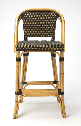 Image of BUTLER LILA DARK BROWN RATTAN