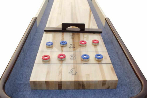 Image of Berner Billiards The Retro 22 foot Shuffleboard Table