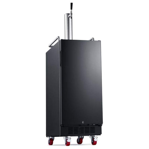 15 Inch Wide 1 Tap Kegerator with Forced Air Refrigeration and Air Cooled Beer Tower