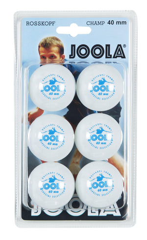 JOOLA Rossi Champ 1-Star Table Tennis Balls (6 Count) - White