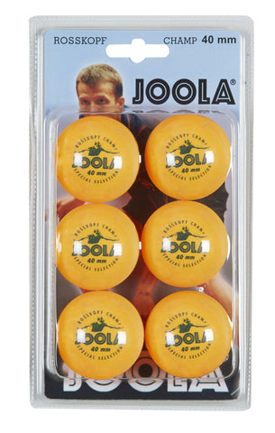 JOOLA Rossi Champ 1-Star Table Tennis Balls (6 Count) - Orange