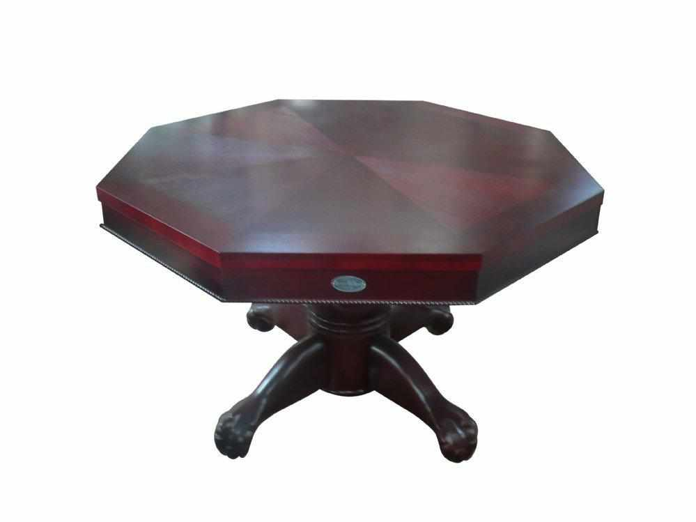 "Berner Billiards 3 in 1 Table - Octagon 54"" w/Bumper Pool with SLATE bed in Mahogany"