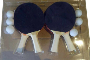 Table Tennis 4 Player Paddle Set with 6 Balls