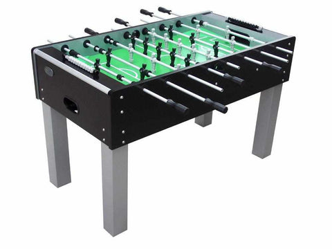 Image of Outdoor Foosball Table in Black with both 1 & 3 man Goalie