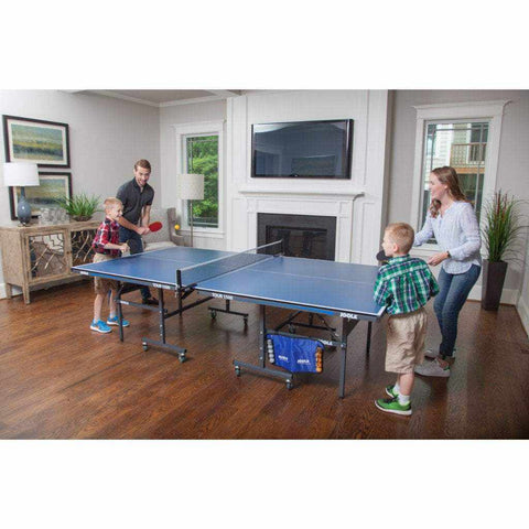 JOOLA Family Table Tennis Set (Includes 4 Rackets, 10 Balls, Carrying Case)
