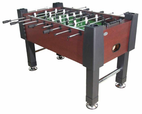 Image of The Player Foosball Table in Mahogany with both 1 & 3 man Goalie