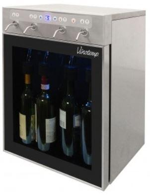 The Vinotemp WineSteward™ Four-Bottle Wine Dispenser (Stainless)